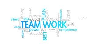 Team Work, tipografía animada ilustración del vector