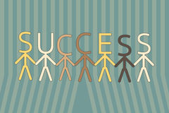 Team work to success. Vector illustration Royalty Free Stock Photography