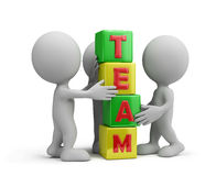 Team. Work together as a team. 3d image. White background Royalty Free Stock Images