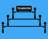 Team work together illustration vector idea communication Royalty Free Stock Photography