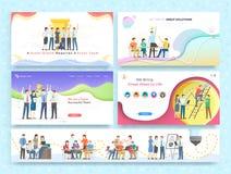 Team Work Together sur la s?ance de r?flexion, association illustration libre de droits
