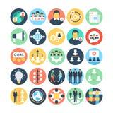 Team Work- und Organisations-Vektor-Ikonen 2 Lizenzfreie Stockbilder