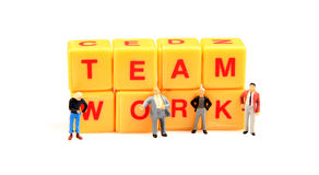 Team work wins. Concept image of team work on white background royalty free stock images