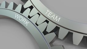 TEAM and WORK words on meshing gears