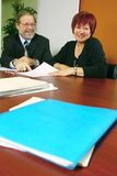Team worker. Mature business partner working together on a project Royalty Free Stock Photos