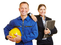 Team with worker and businesswoman Stock Photos
