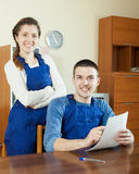 Team of workers with  documents Royalty Free Stock Image
