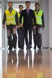 Team of workers and manager Stock Photography