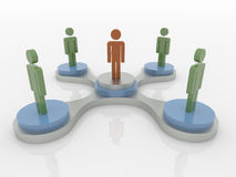 Team Workgroup, Leardership y concepto social de la red 3D stock de ilustración