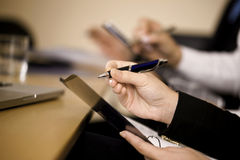 Team working with documents Royalty Free Stock Photography