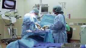 Team Working In Operating Theatre chirurgico video d archivio