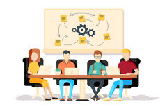 Team working together on a big IT startup business. Royalty Free Stock Photo