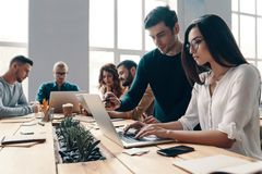 Team working together. royalty free stock photos