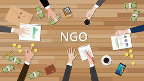 Team working together to support ngo to help others Royalty Free Stock Image