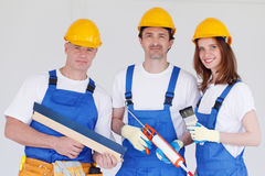 Team of workmen Stock Image