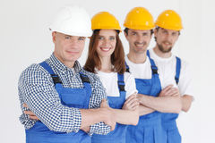 Team of workmen Royalty Free Stock Photography