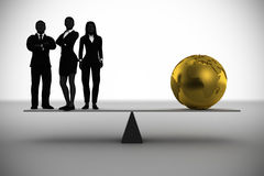Team worth a world of Gold Stock Images