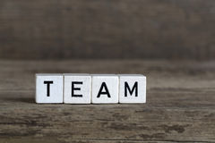 Team, written in cubes Royalty Free Stock Photo