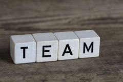 Team, written in cubes Royalty Free Stock Images