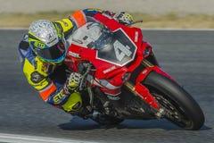 Team Yamalube Folch Endurance 24 ore di motociclismo di Catalunya Fotografia Stock Libera da Diritti