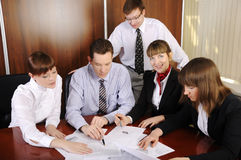The team of young business people Stock Photo