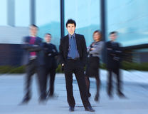 A team of young business persons in formal clothes Stock Images