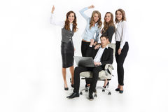 Team of young businesspeople enjoying success Royalty Free Stock Photography