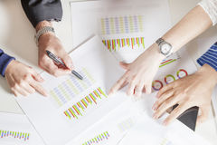 Team of young businesspeople working together with hands Royalty Free Stock Images