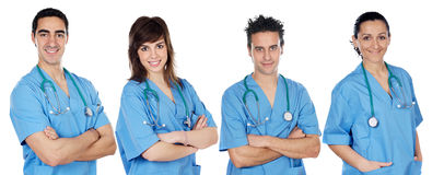 Team of young doctors Stock Images