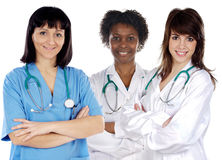Team of young doctors Stock Photo
