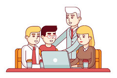 Team of young employees Royalty Free Stock Image