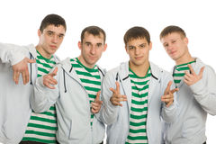 Team of young guys Stock Photos