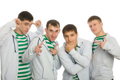 Team of young guys Royalty Free Stock Photography