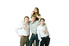 Team Of Young People royalty free stock photo
