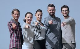 Team of young people showing hands forward Stock Photos