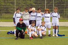 Team of young soccer players of BSC SChwalbach Stock Photo