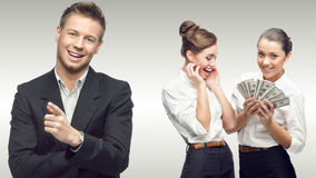 Team of young successful business people Stock Images