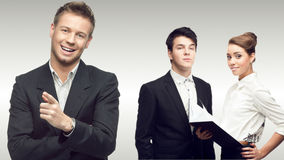 Team of young successful business people Stock Image