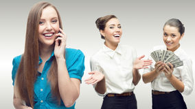 Team of young successful business people Royalty Free Stock Image