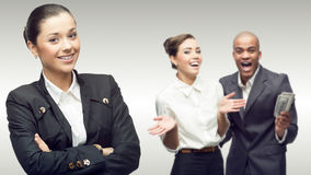 Team of young successful business people royalty free stock images