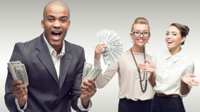 Team of young successful business people Stock Photo