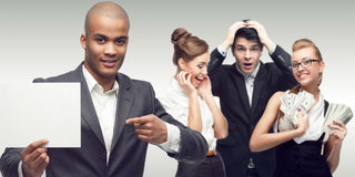 Team of young successful business people Royalty Free Stock Photography