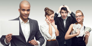 Team of young successful business people Royalty Free Stock Photos