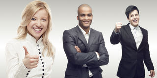 Team of young successful business people Stock Photos