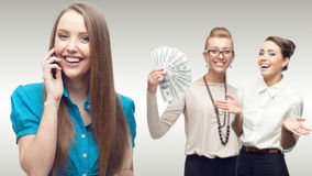 Team of young successful business women Royalty Free Stock Photo