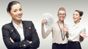 Team of young successful business women Royalty Free Stock Photos