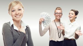 Team of young successful business women Stock Photos