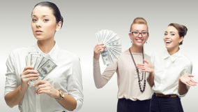 Team of young successful business women Royalty Free Stock Photography