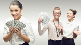 Team of young successful business women Royalty Free Stock Images