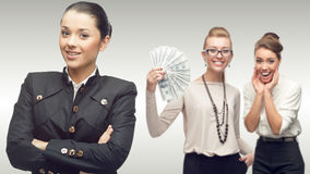 Team of young successful business women Stock Photo